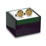 Klimt Gold Cuff Links in box