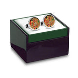 Klimt Red Cuff Links in box