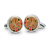 Klimt Red Cuff Links