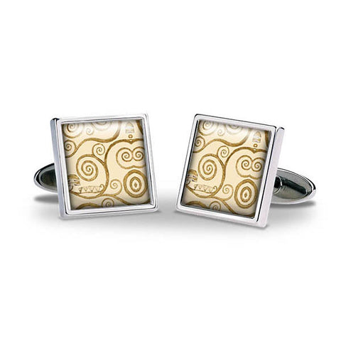Klimt Tree of Life Gold Cuff Links