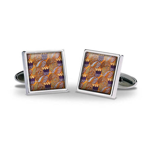 Mackintosh Gold & Purple Cuff Links