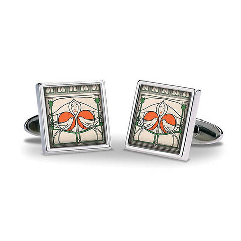 Mackintosh Lady with Doves Cuff Links