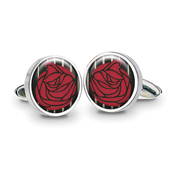 Mackintosh Lady with Rose Cuff Links