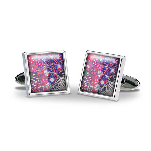 Mackintosh Purple & Pink Cuff Links