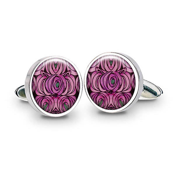 Mackintosh Rose & Teardrop Cuff Links