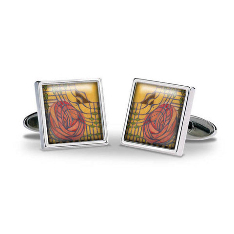 Mackintosh Stylised Rose Cuff Links