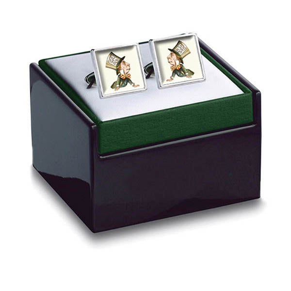Mad Hatter Cuff Links in box