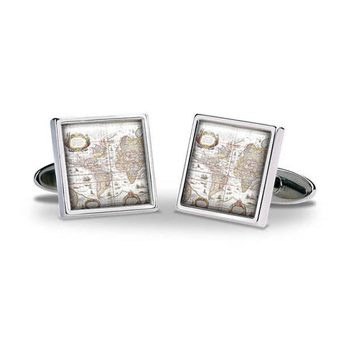Mappa Mundi Cuff Links