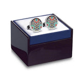 Marrakesh Red Cuff Links in box