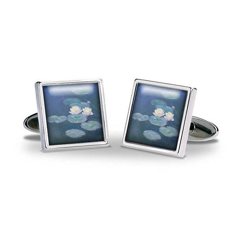 Monet Waterlilies Cuff Links
