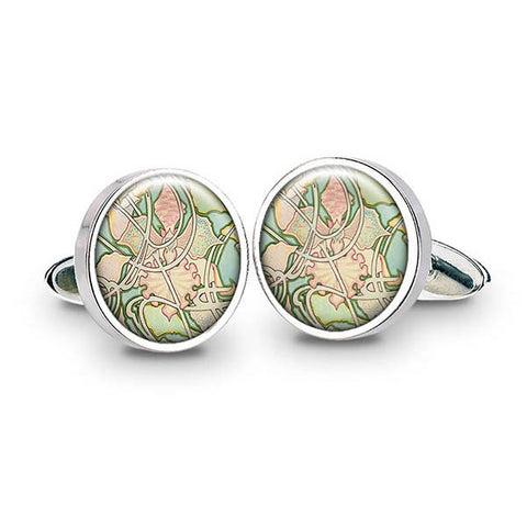 Mucha Wallpaper Cuff Links