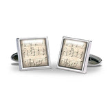 Music Sheet Cuff Links