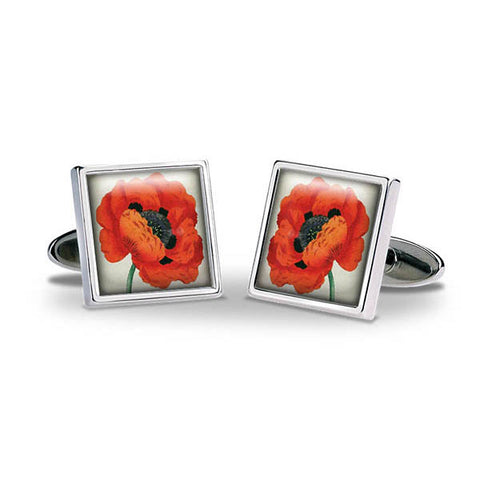Remembrance Poppy Cuff Links