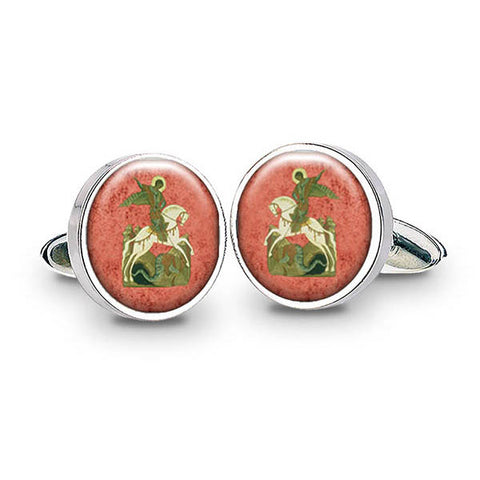 St George and The Dragon Cuff Links