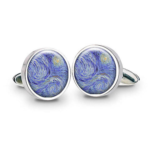 Van Gogh Starry Night Cuff Links