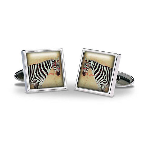 Zebra Cuff Links