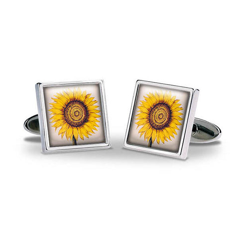Sunflower Cuff Links