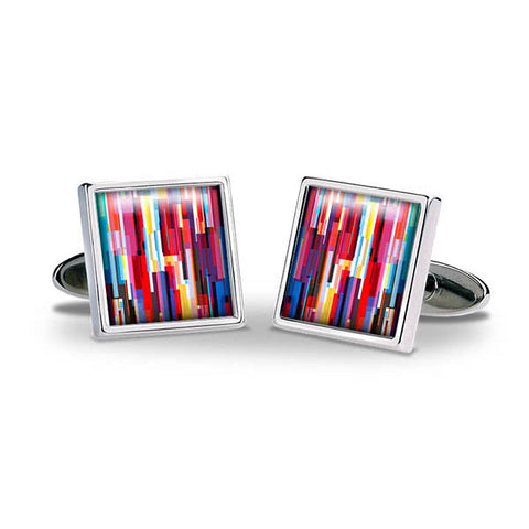 Colour Bars Cuff Links