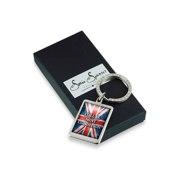 Still In Mint Condition Flag Keyring with box