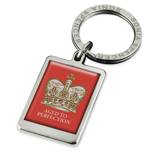 Aged To Perfection Crown Keyring