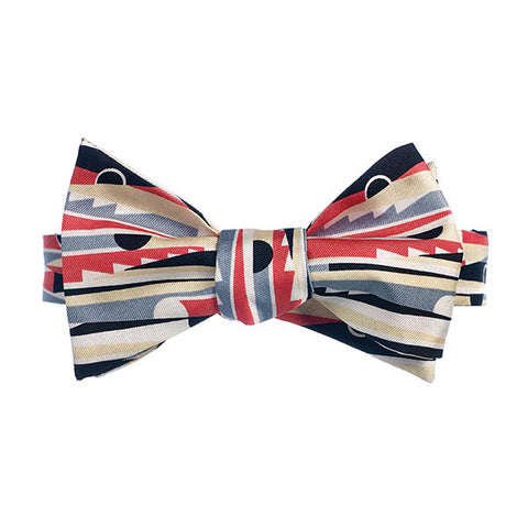 Deco Black & Red Bow Tie