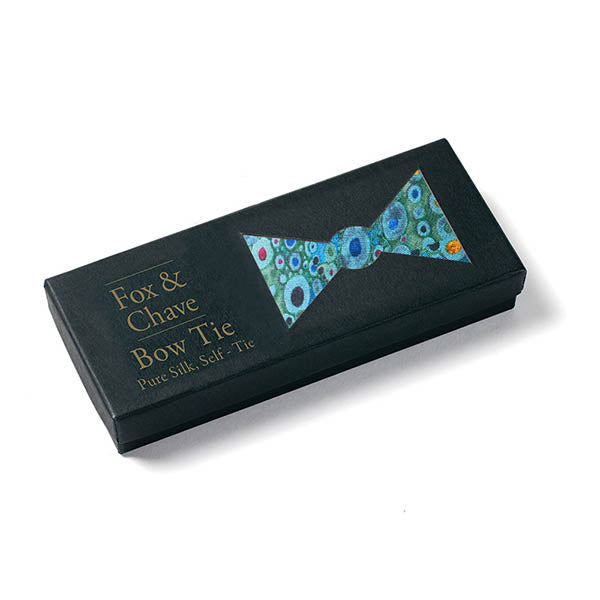 Klimt Turquoise Bow Tie Boxed