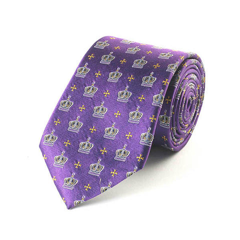 Jubilee Crown Purple Silk Tie