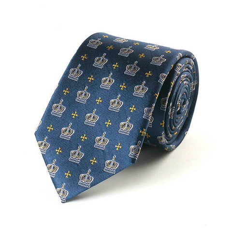 Jubilee Crown Navy Silk Tie