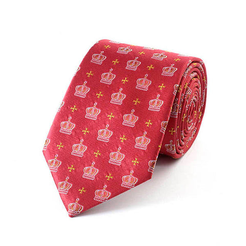 Jubilee Crown Red Silk Tie