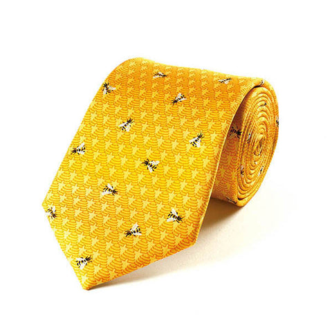 Bees & Hives Silk Tie