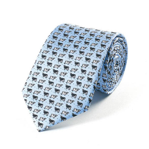 Bryn Parry Cows Silk Tie