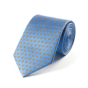 Bryn Parry Foxes Blue Silk Tie