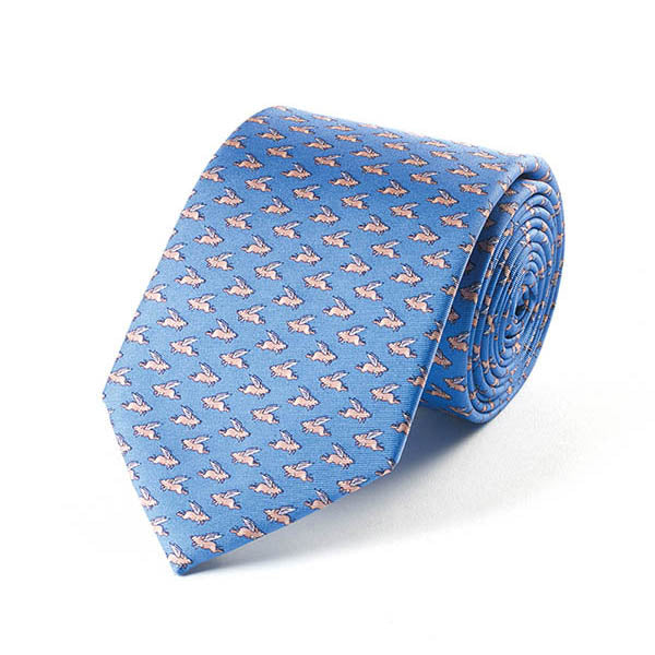 Bryn Parry Pigs Might Fly Silk Tie
