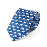 Bryn Parry Elephants Blue Silk Tie