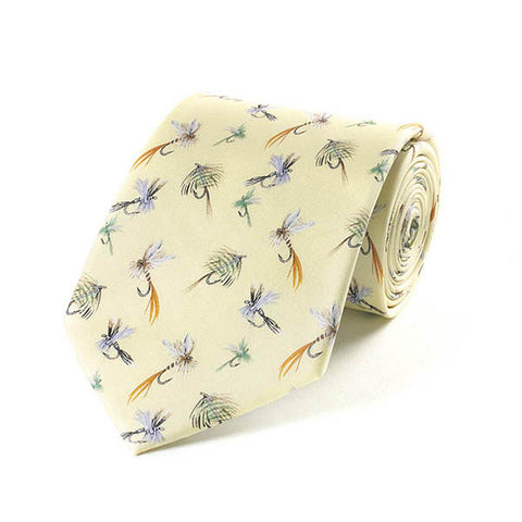 Bryn Parry Fishing Flies Silk Tie