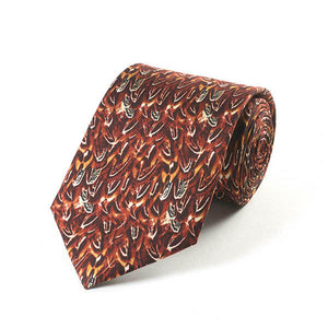 Pheasant Feathers Silk Tie