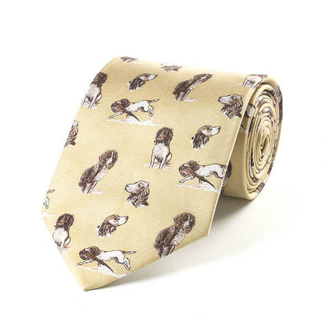 Bryn Parry Working Springer Silk Tie