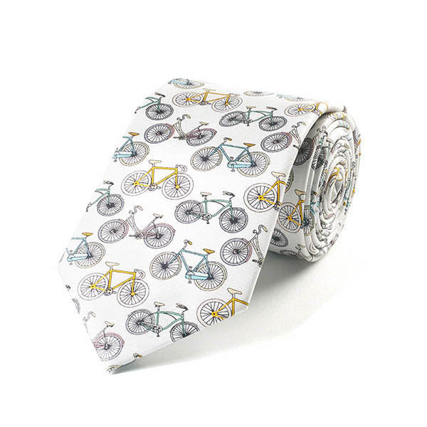 Bicycles Silk Tie