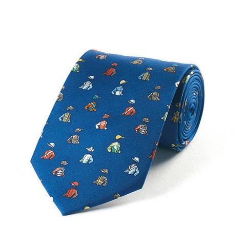 Bryn Parry Jockey Silks Blue Silk Tie
