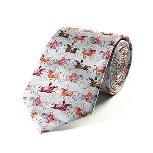 Persian Polo Players Silk Tie
