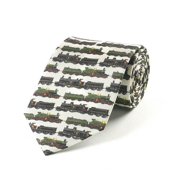 Classic Trains Silk Tie