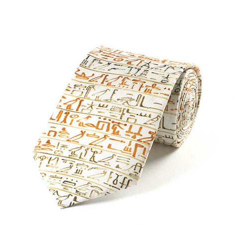Egyptian Heiroglyphics Silk Tie