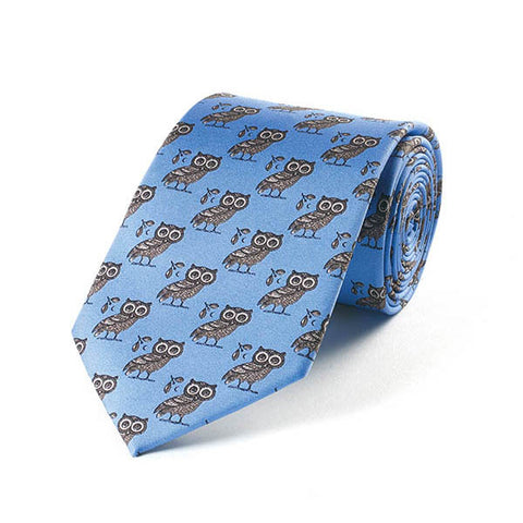 Greek Owl Silk Tie