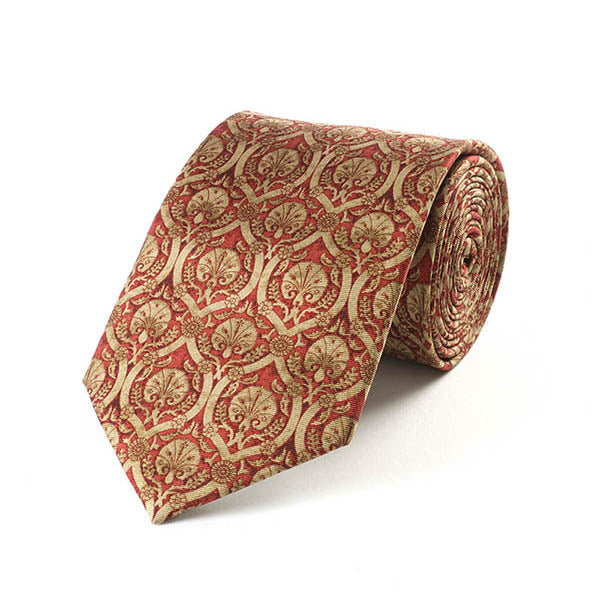 Islamic Red Dianthus Silk Tie