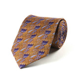 Mackintosh Gold and Purple Silk Tie