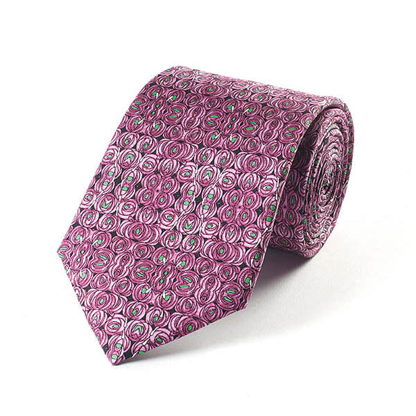 Mackintosh Rose & Teardrop Silk Tie