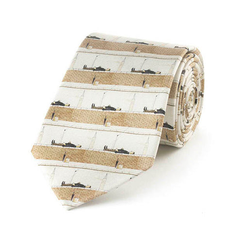 Man Lying on a Wall Silk Tie