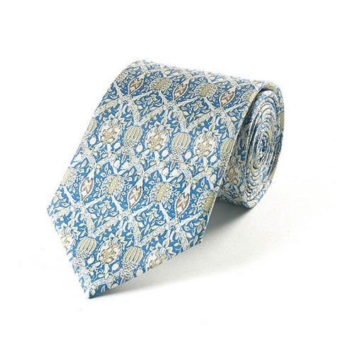 Morris Broche Blue Silk Tie