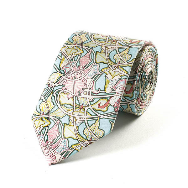 Mucha Wallpaper Silk Tie