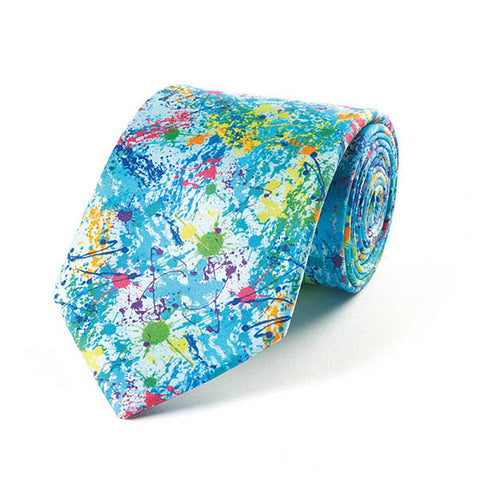 Paint Splash Silk Tie